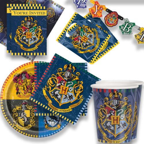 Harrry Potter Party Kinder Geburtstag Deko Teller Becher Partyset große Auswahl