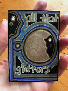 Original-ACEO-Drawing-by-Jay-Snelling-Outsider-Art-Brut-All-That-Glitters