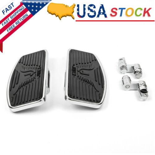 Pair Adjust Front Floorboard Footrests Pedals For Harley Sportster 883 1200 Dyna