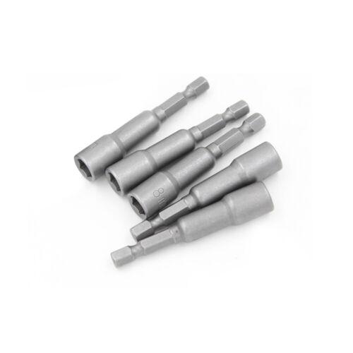 """1//4/"""" Zoll Magnetisch Steckschlüssel 6-24mm Sechskant Stecknuss Nuss Bit Cr-V"""