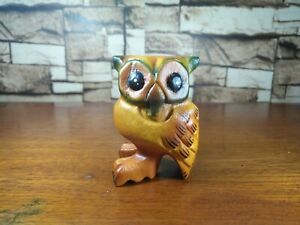 Wooden Owl Whistle Hand Carved Figurine Statue Sound Animals Home Deco Gift Toys