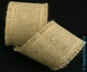 Best Natural Jute Hessian Burlap Frayed Edge Vintage Wedding Rustic Craft Ribbon