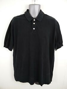 MENS-ARMANI-JEANS-BLACK-BUTTON-UP-SHORT-SLEEVED-CASUAL-POLO-SHIRT-UK-2XL-2XLARGE
