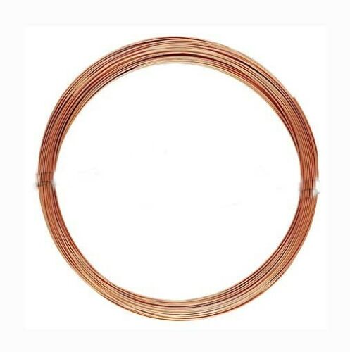 10ft 14k ROSE Gold filled 26 gauge round beading wire craft wrapping half hard
