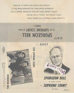 Details about 1947 SPURGEON BELL CHIEF JUSTICE SUPREME COURT TEXAS