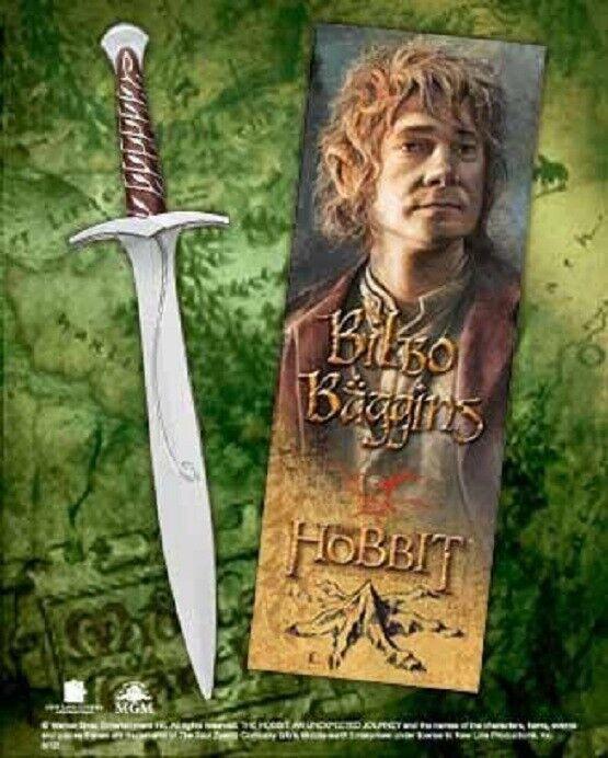 The hobbit Bilbo Baggins Sting Sword Pen and Lenticular 3D Bookmark