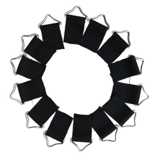10x Steel Triangle Rings Buckle Loop Ring V-rings for Trampoline Mat Fix Bag