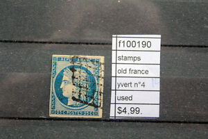 STAMPS-OLD-FRANCE-YVERT-N-4-USED-F100190