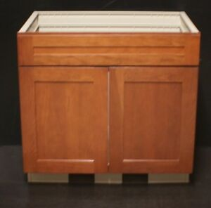 Details About Kraftmad Cinnamon Maple Kitchen Sink Base Cabinet 36 Vinyl Box