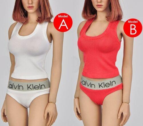 """1//6 Scale Female Underwear Vest Pants Suit Set Model 2 Color For 12/"""" PHICEN Body"""