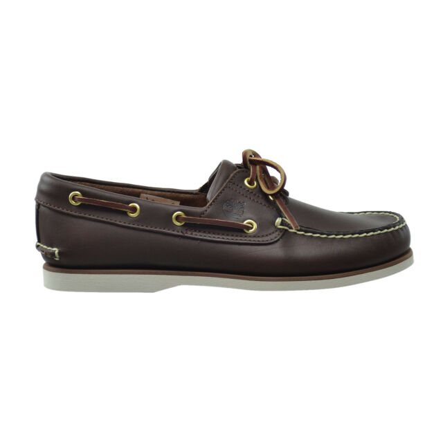 Classic Dark Brown Men Boat Shoes UK