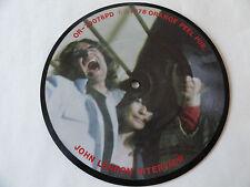 "JOHN LENNON INTERVIEW DAVID PEEL 7""PICTURE DISC 1980 RARE ORANGE PEEL 0R-70078PD"