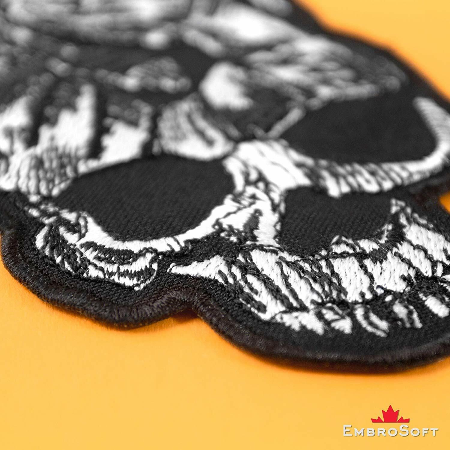 White Hand Sign of The Horns Heavy Metal Embroidered Iron on Patch