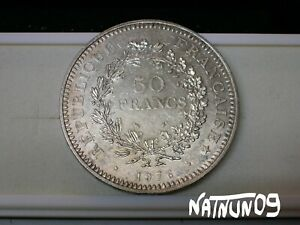 FRANCE-50-FRANCS-1976-SILVER-COIN