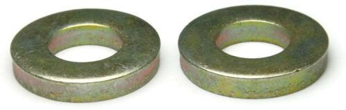 USA Made SAE Inch Sizes Extra Thick Flat Washers Grade 8 Yellow Zinc