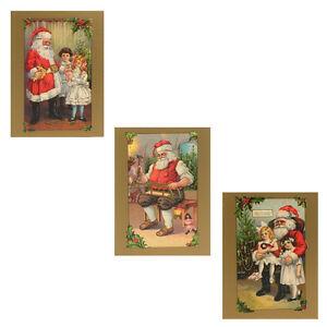 75 Victorian Father Christmas Petite Christmas Gift Cards XG0011   eBay
