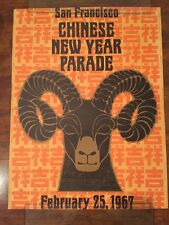 San Francisco Chinese New Year Parade Poster 1967 Rare Litho Vintage Collectable