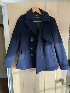 Phase-Eight-Navy-Double-Breasted-Pea-Coat-10-Barely-Worn-Bought-Last-Year