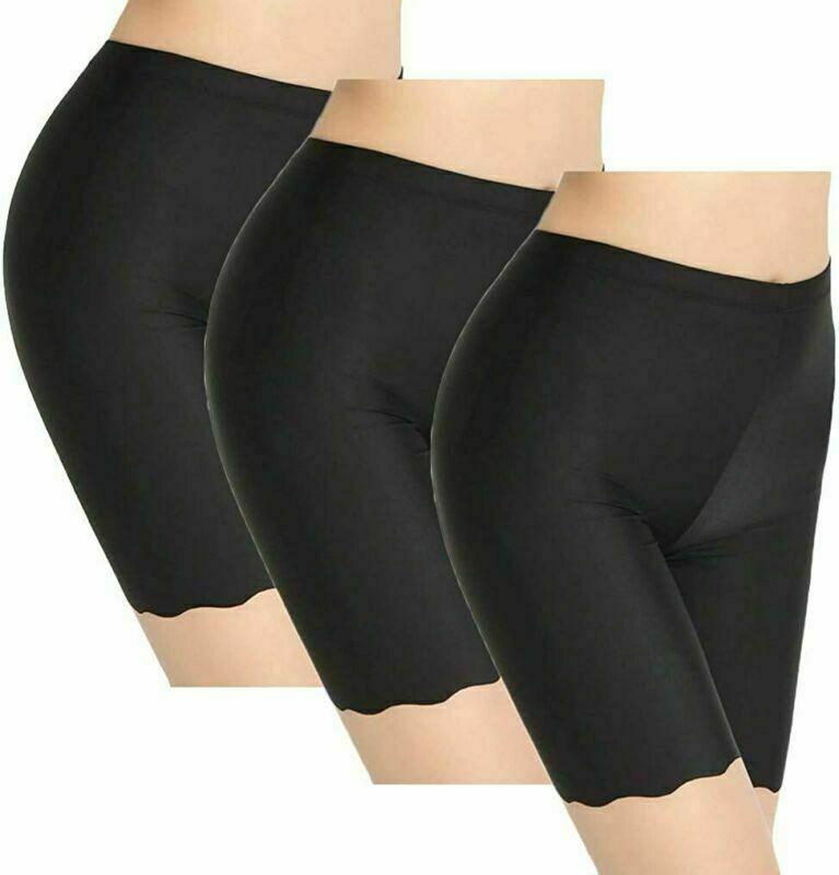 3pcs Damen Sicherheitsshorts Damen Nahtlose Anti-Chafing-Unterwäsche Lange Slip