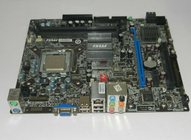MSI G41M-P23 LGA 775 Motherboard with E7500 c2 duo CPU NO backplate