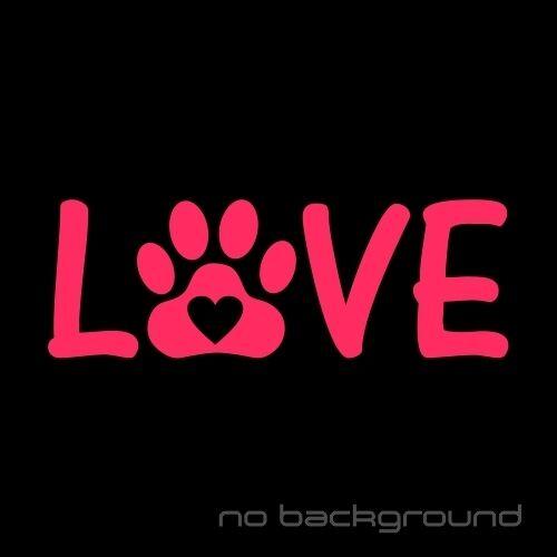 Cat Dog Heart Print Pet Animal Car Window Bumper Love Paw Sticker Vinyl Decal