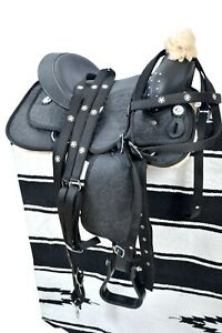 Synthetic-Western-Barrel-Racing-Beautiful-Horse-Saddle-Tack-Size-14-to-18