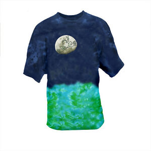 Peace-Frogs-034-Moon-034-Tie-Dye-T-Shirt-Hippie-Lunar-Space-Unisex-Style-NEW
