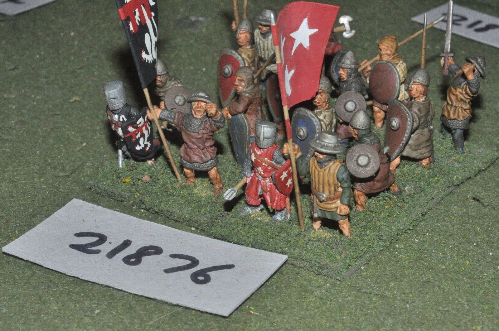 25mm medieval   english - spearmen 16 figs infantry - inf (21876)