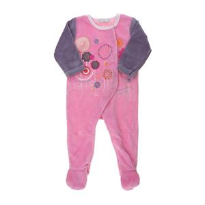 b62f717ef2ce3 ... Absorba-pyjama-velours-rose-brode-fille-1-an