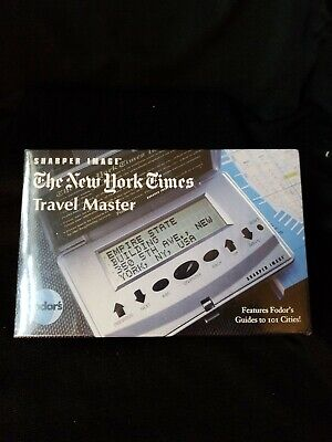 Agresivo New Sealed Sharper Image The New York Times Travel Master With Fador's Famoso Por Materiales Seleccionados, DiseñOs Nuevos, Colores Deliciosos Y Mano De Obra Exquisita