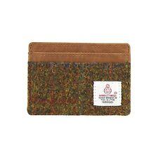 Bragar BWT Harris Tweed Card Holder Leather Trim British Bag Co Gift Boxed