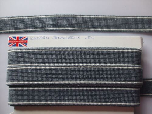 Sold by the Metre Webbing 34mm Cotton with Stripe Detail Ideal for Bag Straps