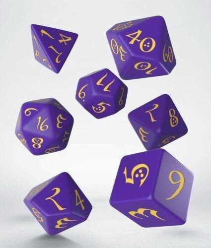 QWSSCLE93 Q-Workshop Classic RPG Dice Set Purple//Yellow 7