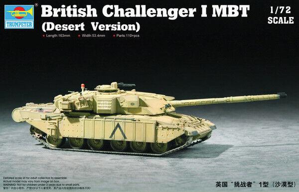 Trumpeter 1/72 Challenger I MBT (Desert Version) # 07105