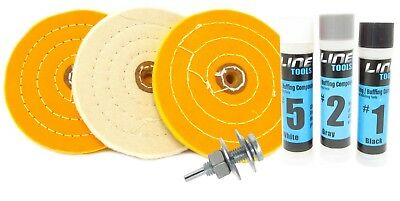1//2 Inch Arbor to 1//4 Shank Converts Drill to Buffer Buffing Wheel Arbor Adapter Polisher by Line10 Tools