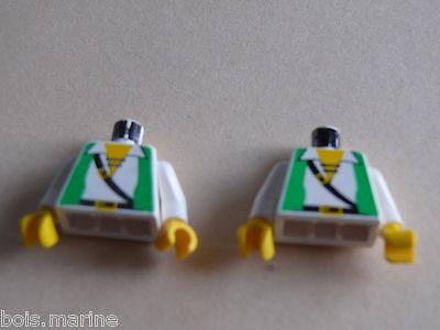 3 black  torso from minifig Lego 3 torses set 4559 6598 6348 6332