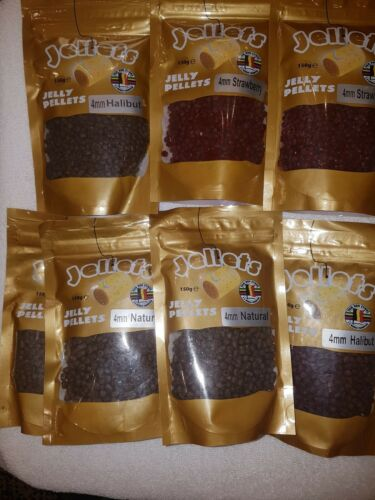 course fishing job lot bait jelly pellets 4 natural//2strawberry//2hallibut