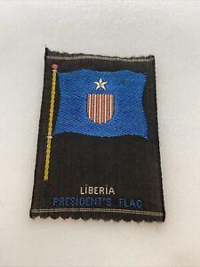 Vintage Liberia President's Flag Tobacco Silk American Tobacco Co. Flag Premium