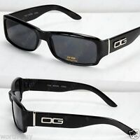 DG MENS WOMENS RECTANGULAR DESIGNER SUNGLASSES SHADES BLACK EYEWEAR FASHION NEW
