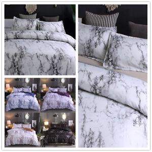 Queen-King-Full-Marble-Modern-Duvet-Cover-Set-Microfiber-Bed-Sheets-Pillow-case