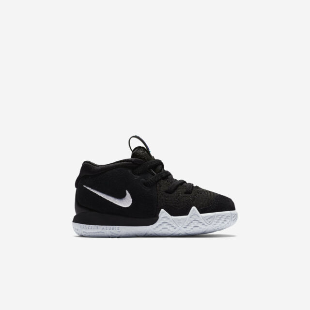 newest 9fe58 5bcab NEW AA2899 002 Toddlers' NIKE KYRIE 4 (TD) Shoe!! BLACK/WHITE
