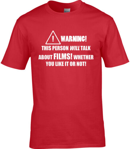 Film Movie Mens T-Shirt Funny Hobby Statement Gift Acting Actor Actress Films
