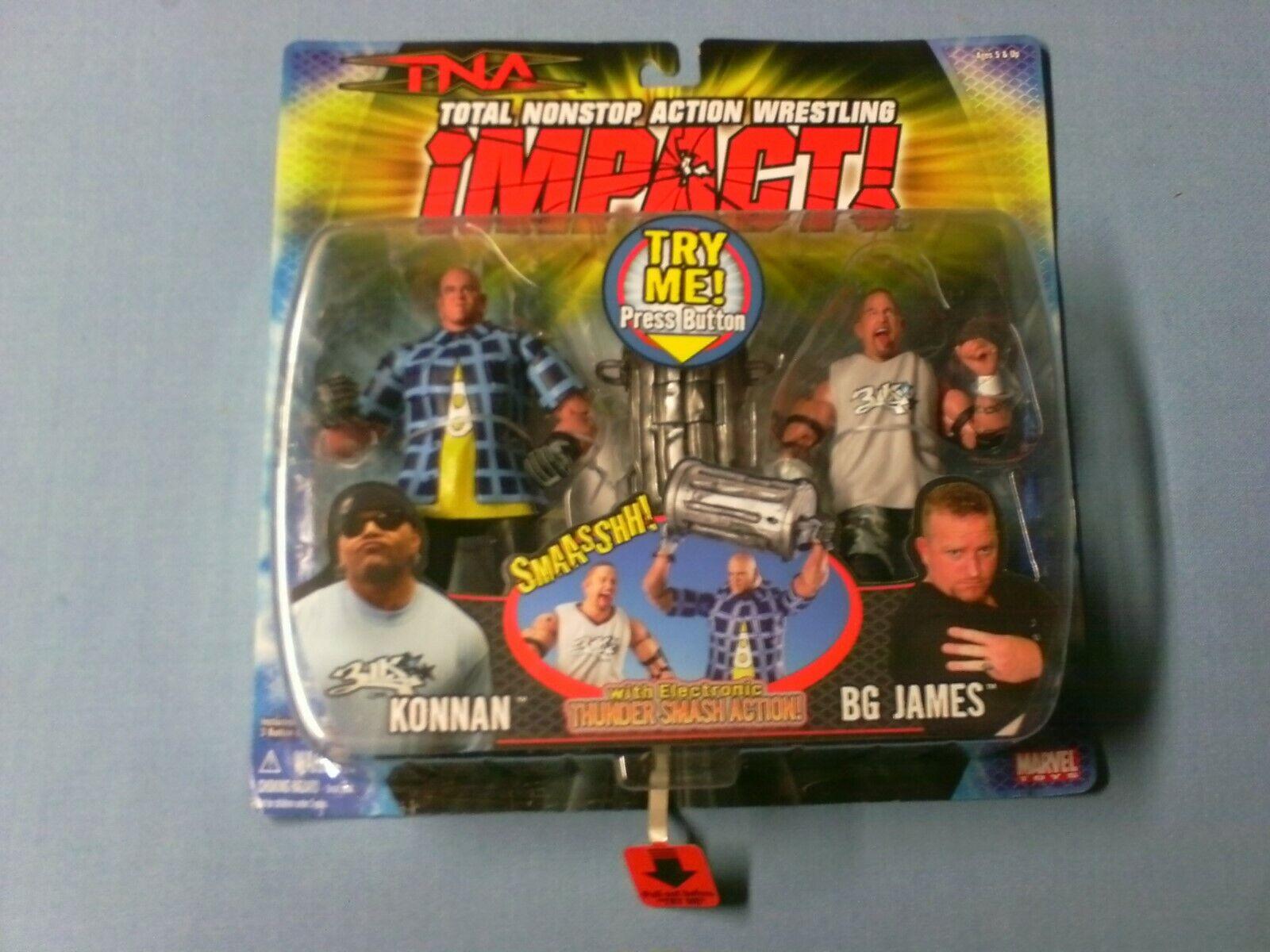 TNA Impacto Konnan-BG James de nuevo en Stock