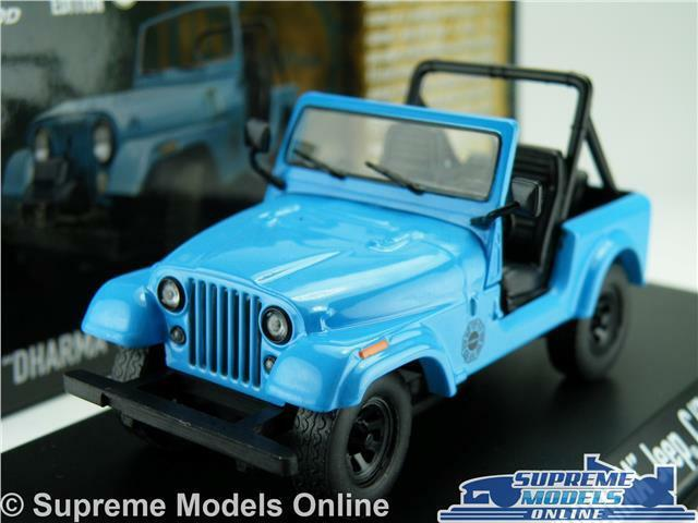 DHARMA JEEP CJ7 LOST MODEL CAR 1 43 SCALE 1977 GREENLIGHT 86309 4X4 OFF ROAD K8Q