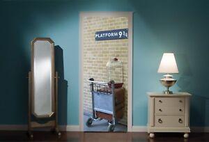 Door-Mural-Harry-Potter-platform-9-3-4-View-Wall-Stickers-Decal-Wallpaper-323-4a