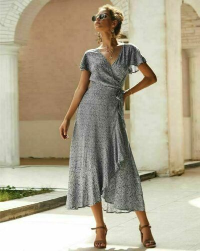 Party Sundress Dresses Cocktail Dress Evening Womens Casual Floral Long Sleeve