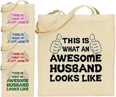 Toll Husband Groß Baumwolltasche Einkaufstasche Leinen Lustig Vater Dad