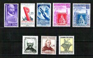 Repubblica-1-Periodo-non-linguellati-perfetti-Lotto-25-francobolli