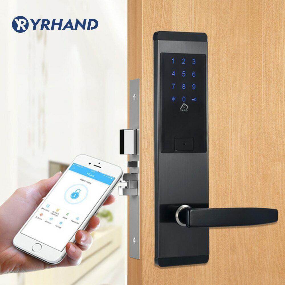 Seguridad Cerradura Puerta electrónica App Wifi Pantalla Táctil Inteligente Teclado de código digital