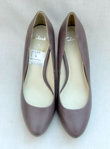 New Leather 5 Platform 38 Taupe Womens Bree Shoes Size Concealed Clarks xrfxg1p